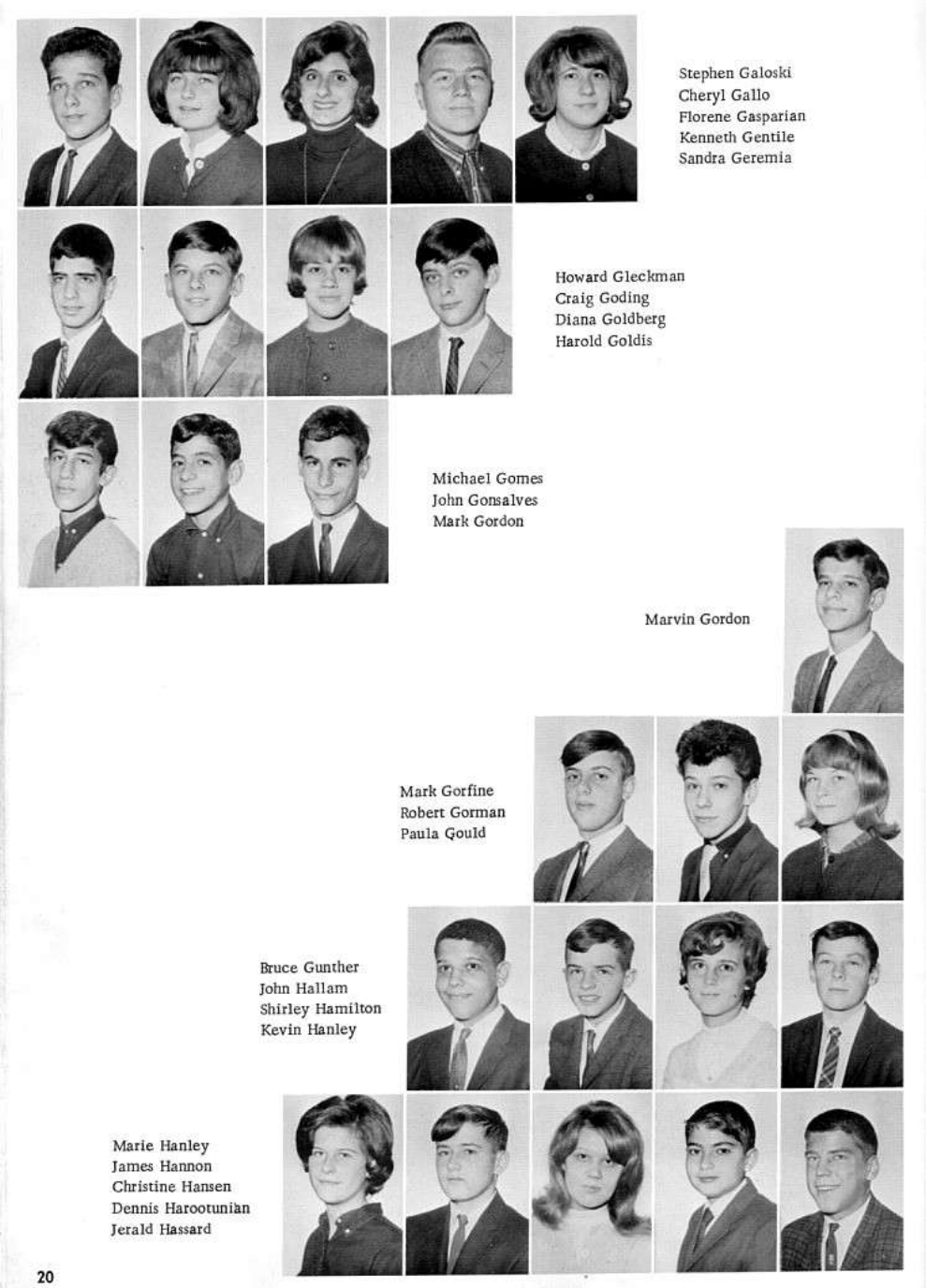 the cranston east class of park view echo year book galoski hassard